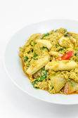 Stir Fried Squid with curry — Stock Photo