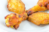 Barbecue chicken with sauce on isolated background — Foto de Stock
