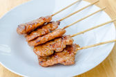 Thai style BBQ grilled pork or Moo-Ping — Stock Photo