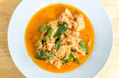 Red savory curry paste with pork and coconut milk (Panaeng) — Foto Stock