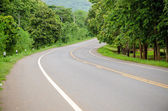 Curve asphalt road view — Stock Photo
