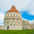 Baptistery in Cathedral Square at Pisa in Italy — Stock Photo