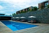 Travel pool resort — Stock Photo