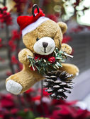 Christmas teddy bear — Stock Photo