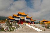 Buddhist pagodas in Dali Yunnan province of China — Stock Photo