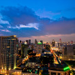 Landscape Bangkok city night view, Thailand — Stock Photo