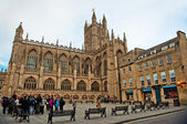 Bath abbey arquitectura somerest inglaterra — Foto de Stock