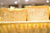 Bread on the desk — Stock Photo