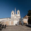 Постер, плакат: Spanish steps in Rome Italy
