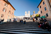 Spanish steps in Rome, Italy — Stock Photo