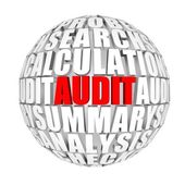 Red audit — Stock Photo