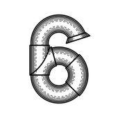 Steampunk font — Stock Photo