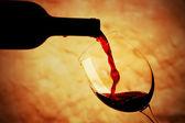 ποτήρι κόκκινο κρασί — Φωτογραφία Αρχείου