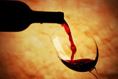 Glass of red wine — 图库照片