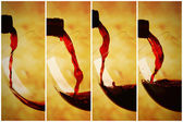 Red wine pour concept of fill — Stock Photo