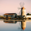 Windmill salt Trapani — Stock Photo