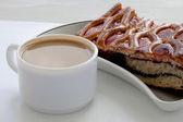 Kahve ve kek — Stok fotoğraf