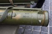 Exposición de capturadas armas decomisadas a los separatistas en ucrania — Foto de Stock
