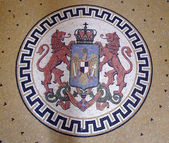 Coat of arms of Romania during King Ferdinand — Stock Photo