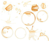 Coffee stains and splatters design pack — Stock Photo