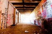 Abandoned industrial hall — Stok fotoğraf