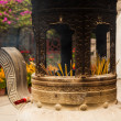 Chinese incense urn — Stock Photo