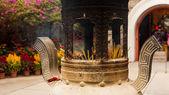 Chinese incense urn — Stock Photo