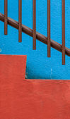 Vibrant colorful abstract architecture detail — Stock Photo