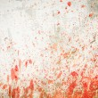 Concrete wall with blood splatters — Stock Photo