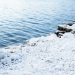 Snow and water peaceful landscape — Stock Photo