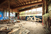 Abandoned warehouse in natural light — Stock Photo