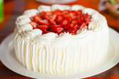 Delicious strawberry cake — Foto Stock