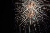 Fireworks on black background — Stock Photo