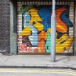 Empty street graffiti background — Stock Photo #34415975