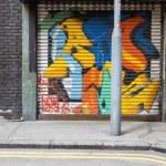 Empty street graffiti background — Stock Photo