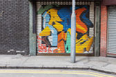 Empty street graffiti background — Stockfoto