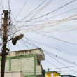 Messy electric wires — Foto Stock