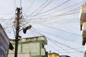 Messy electric wires — Stock Photo