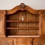 Antique furniture chest of drawers bookshelf — Stock Photo #35050029