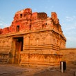 Ruins in hampi india at sunset — Stock Photo