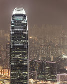 Aerial photo of IFC hong kong at night — Stock Photo