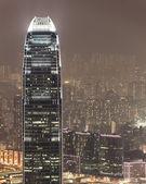 Aerial photo of IFC hong kong at night — Stock Photo