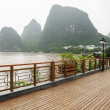 Yangshuo street near Li river — Stock Photo