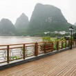 Stock Photo: Yangshuo street near Li river