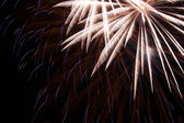 Fire works on black sky — Stock Photo