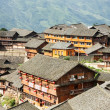Chinese village rooftops — Stock Photo