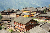 Kinesiska byn hustaken — Stockfoto