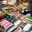 Old books at flea market — Stock Photo #43707251