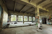 Empty abandoned factory room — Stock Photo