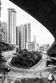 Unique view of hong kong central — Stock Photo